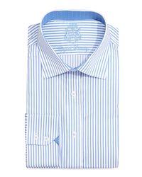 English Laundry | Orange Bengal Stripe Dress Shirt | Lyst