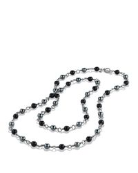 David Yurman Bead Necklace With Black Onyx And Hematine