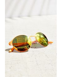 Urban Outfitters | Orange Shoreline Monochromatic Round Sunglasses | Lyst