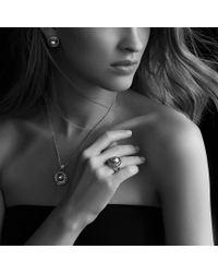 David Yurman - Gray Pearl Crossover Pendant with Diamonds On Chain - Lyst