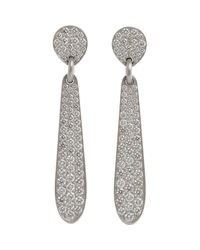 Linda Lee Johnson | Metallic White Diamond Honeycomb Earrings Size Os | Lyst