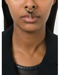 Givenchy - Black Skull Nose Ring - Lyst