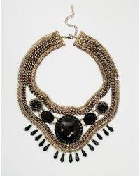 ALDO | Metallic Uleang Mesh Round Stone Collar Necklace | Lyst