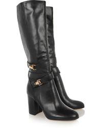 Sam Edelman Black Fairbanks Leather Knee Boots