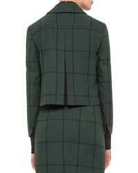 Akris Punto - Black Checked Woven Short Jacket - Lyst