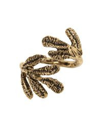 Banana Republic   Metallic Hammered Leaf Ring   Lyst