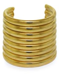 Vickisarge - Metallic Gold-Plated 'Burma' Arm Cuff - Lyst