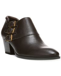 Franco Sarto | Brown Genna Ankle Booties | Lyst