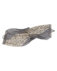 Laura B - Metallic Chainmail Bracelet - Lyst