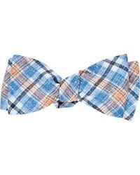 Barneys New York - Blue Men's Plaid Bow Tie for Men - Lyst