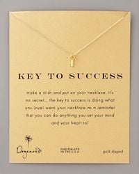 Dogeared | Metallic Key To Success Necklace | Lyst