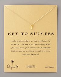 Dogeared - Metallic Key To Success Necklace - Lyst