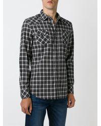 DIESEL | White Checked Shirt for Men | Lyst