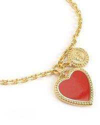 Juicy Couture | Metallic Enamel Heart Wish Bracelet | Lyst