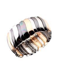 Nine West | Multicolor Bracelet, Tri Tone Stretch Bracelet | Lyst