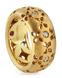 Roberto Coin - Metallic 18k Diamond Granada Ring - Lyst