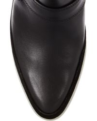 Alexander Wang Black Seymone Suede-trimmed Leather Ankle Boots