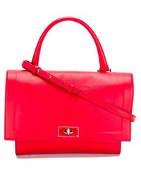 Givenchy - Red Small 'shark' Tote - Lyst