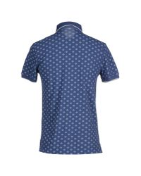 AT.P.CO Blue Polo Shirt for men