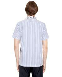 Comme des Garçons | Blue Hawaii Printed Patchwork Poplin Shirt for Men | Lyst