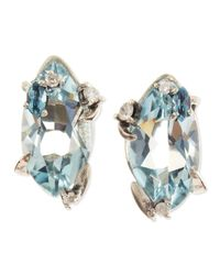 Alexis Bittar - Midnight Marquise Blue Quartz Stud Earrings With Topaz & Diamonds - Lyst