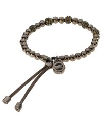 Michael Kors | Black Jet Tone Bead Fireball Stretch Bracelet | Lyst
