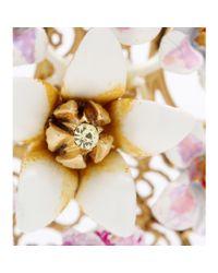Dolce & Gabbana Pink Crystal-Embellished Enamel Clipon Earrings
