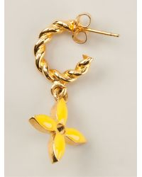 Louis Vuitton - Metallic Drop Earring - Lyst