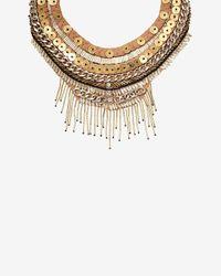 Mignonne Gavigan - Metallic Petite Layne Embellished Woven Collar - Lyst