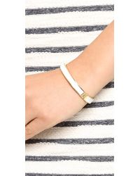 kate spade new york Metallic Clean Slate Hinged Bangle Bracelet