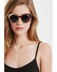 Forever 21 Metallic Cat Eye Sunglasses