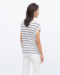 Zara | White Short Sleeve T-shirt | Lyst