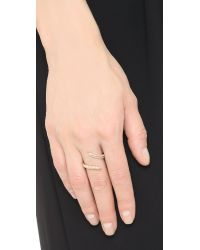 Joanna Laura Constantine Metallic Horn Ring - Gold/clear