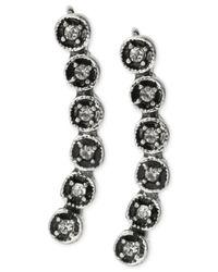 Kenneth Cole - Metallic Small Crystal Circle Ear Crawler Earring - Lyst