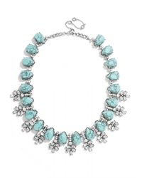 BaubleBar | Blue Crystal Wreath Collar | Lyst