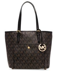 Michael Kors | Black Michael Jet Set Item Medium Snap Pocket Tote | Lyst