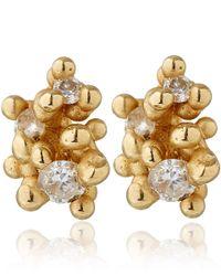 Ruth Tomlinson | Metallic Gold Diamond Granule Stud Earrings | Lyst