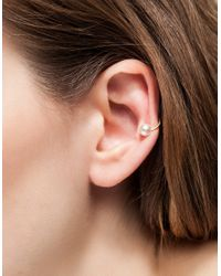 Need Supply Co. | Metallic Pearl Ear Cuff | Lyst