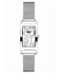 Lacoste | Gray Women'S Inspiration Stainless Steel Mesh Bracelet 18Mm 2000679 | Lyst