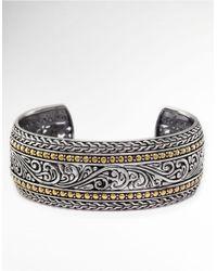 Effy | Metallic Balissima Sterling Silver And 18k Yellow Gold Cuff Bracelet | Lyst