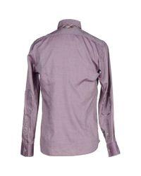 Del Siena - Purple Shirt for Men - Lyst