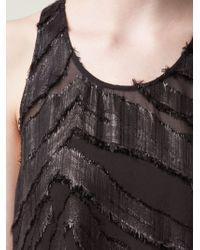 IRO | Black Sheer Stripe Shift Dress | Lyst
