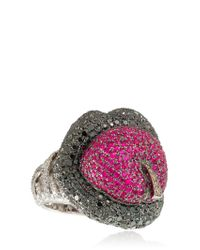 Lydia Courteille Red Erotic Ruby Ring