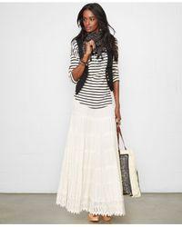 Denim & Supply Ralph Lauren - White Tiered Maxi Skirt - Lyst