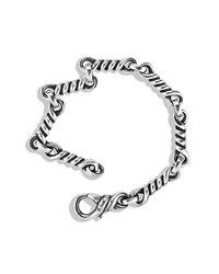 David Yurman - Metallic Cable Twisted Small Link Bracelet for Men - Lyst