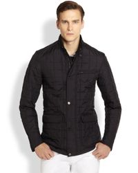 Ferragamo - Black Quilted Jacket for Men - Lyst
