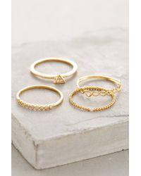 Anthropologie | Metallic Janina Stacked Rings | Lyst