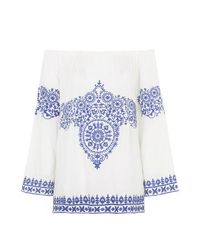 TOPSHOP | Blue China Doll Embroidery Top By Jovonna | Lyst