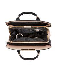 Dune Black Dixxie Front Zip Detail Top Handle Bag