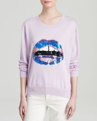 Markus Lupfer Purple Sweater - Sequin Lara Lip